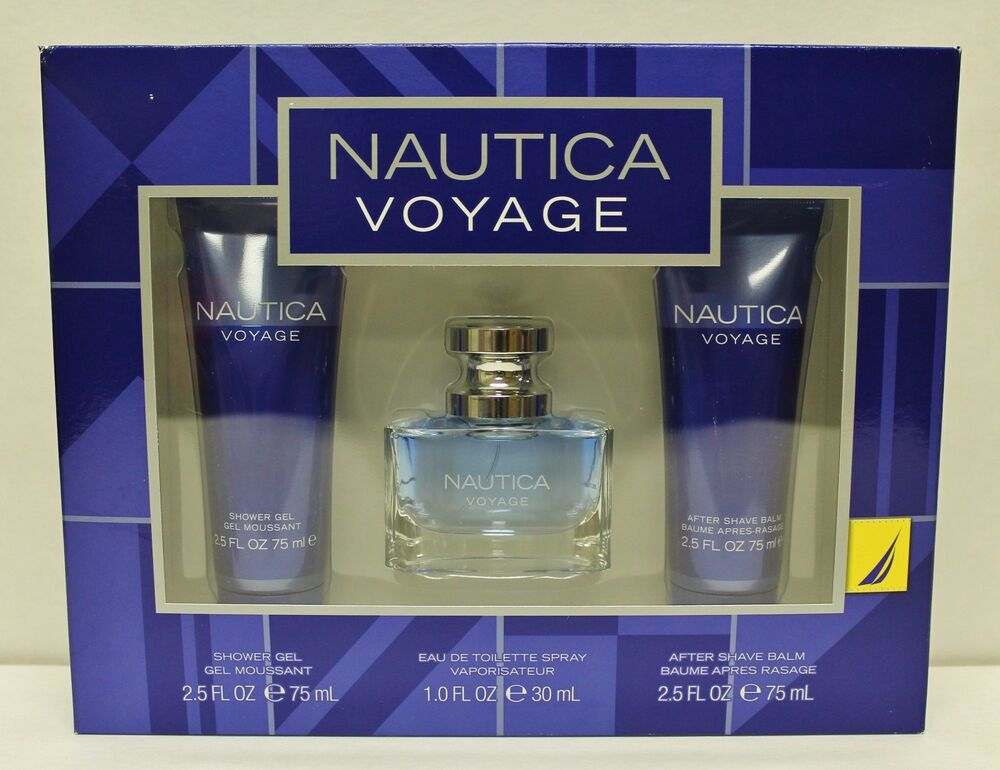 NAUTICA Voyage Gift Set Men EDT Shower Gel After Shave Perfume ...