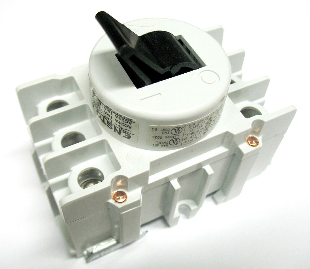 Ensto 80 amp 3 pole phase disconnect switch toggle type for 3 phase motor switch