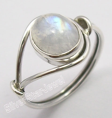 925 sterling silver original oval rainbow moonstone