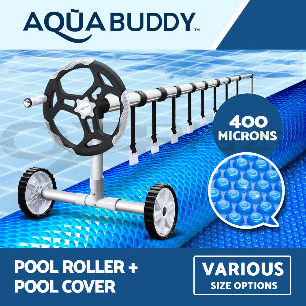 Solar Swimming Pool Cover Roller 400 Micron Outdoor Bubble Blanket Ebay