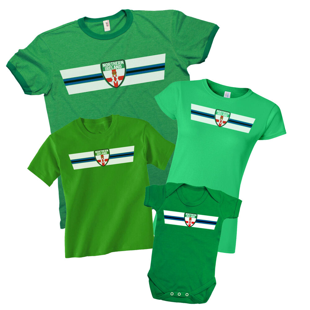 4fc307bbaa5 Details about NORTHERN IRELAND Patriotic Fan Kit T-Shirt  Choice Of MENS  LADIES KIDS BABY GROW