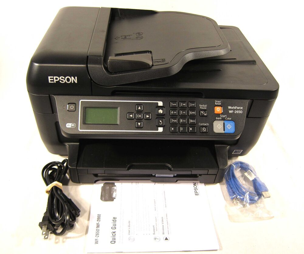 Epson Workforce WF-2650 All In One Color Photo Printer