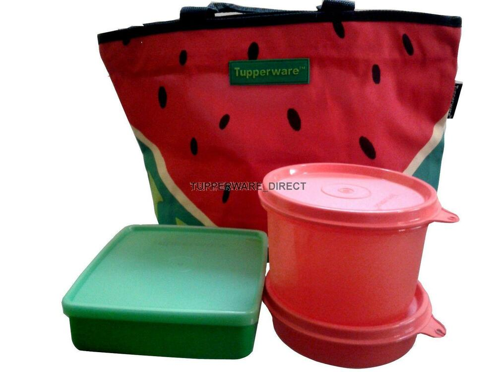 tupperware water melon lunch set lunch box for girls free shipping ebay. Black Bedroom Furniture Sets. Home Design Ideas
