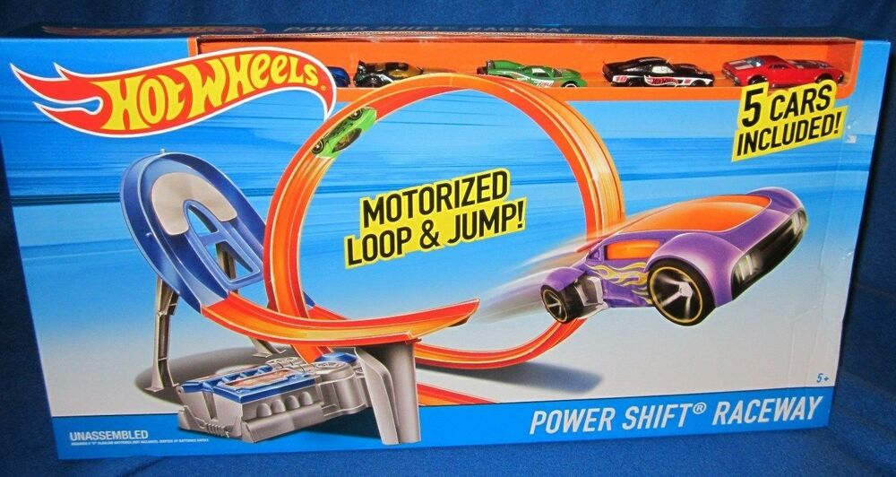 hot wheels power shift motorized loop jump raceway track. Black Bedroom Furniture Sets. Home Design Ideas