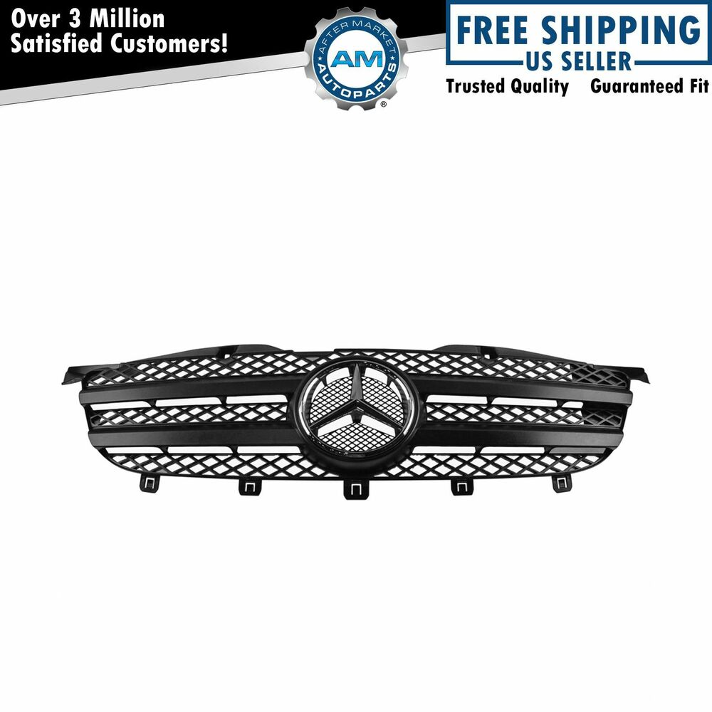 Chrome Auto Front Grill Grille Mesh For Mercedes Benz B: OEM Black Mesh Grille With Chrome Emblem For Mercedes