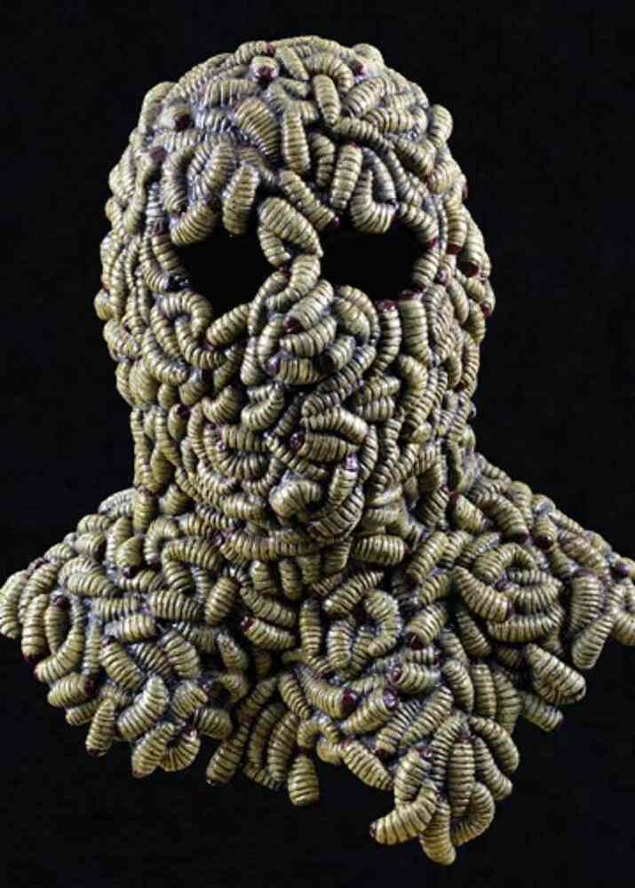 Grub Mask Worms Maggots Scary Fancy Dress Up Halloween