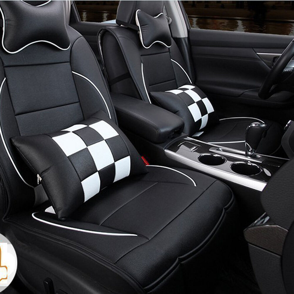 pu leather car seat cover cushion 10pc set for toyota camry corolla 4runner rav4 ebay. Black Bedroom Furniture Sets. Home Design Ideas