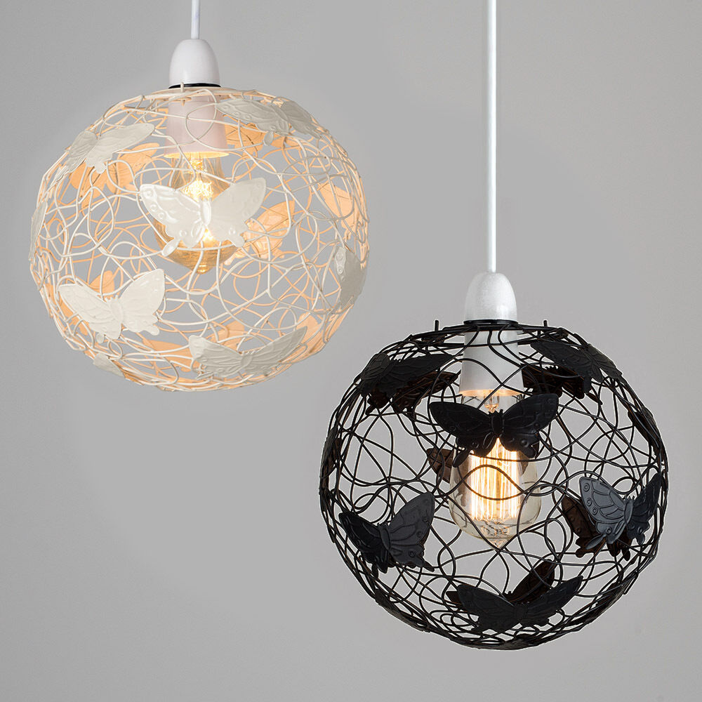 Lamp Shades For Ceiling Lights: Butterfly Metal Wire Ceiling Pendant Light Chandeliers