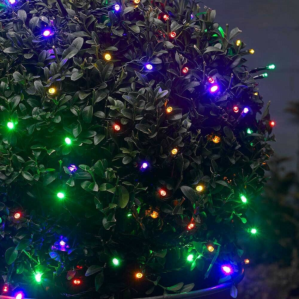 Outdoor Party Lights Solar: 50 LED STRING LIGHTS SOLAR POWERED WHITE FAIRY LIGHTS