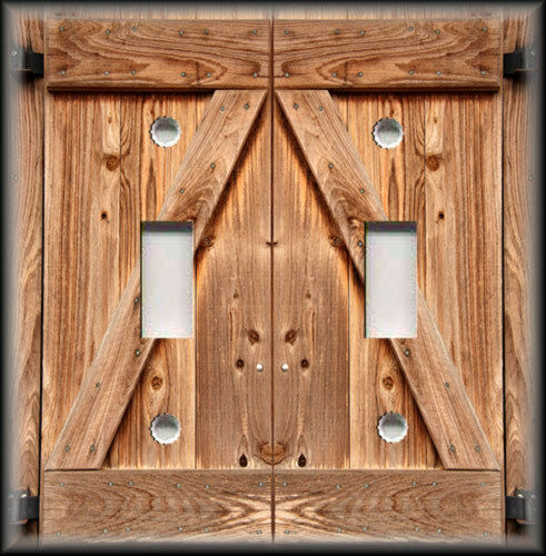 Metal Light Switch Plate Cover Country Decor Wood Barn