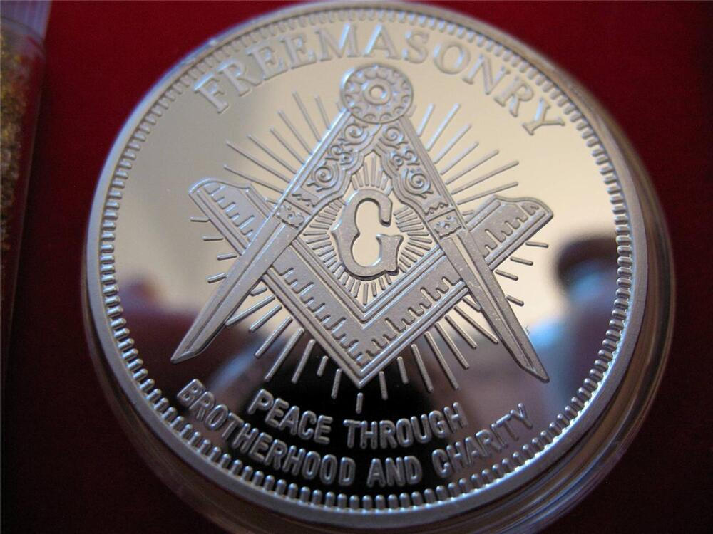 1 Troy Oz 999 Pure Silver Buillion Masonic Temple Poker