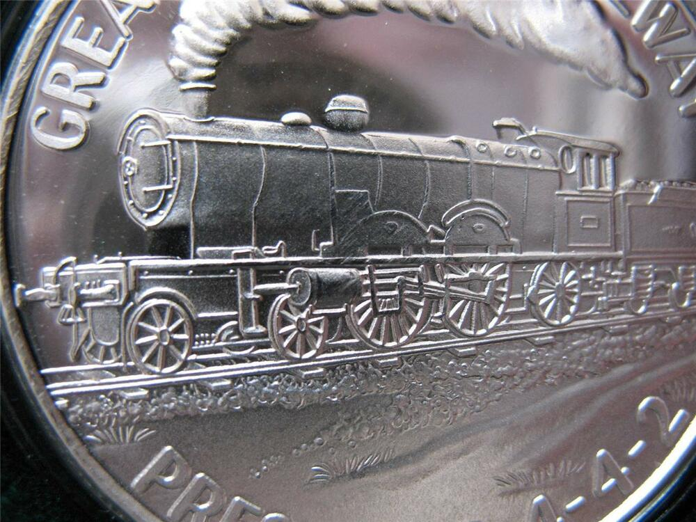 1 Oz 999 Silver Coin Great Western R R Vintage President