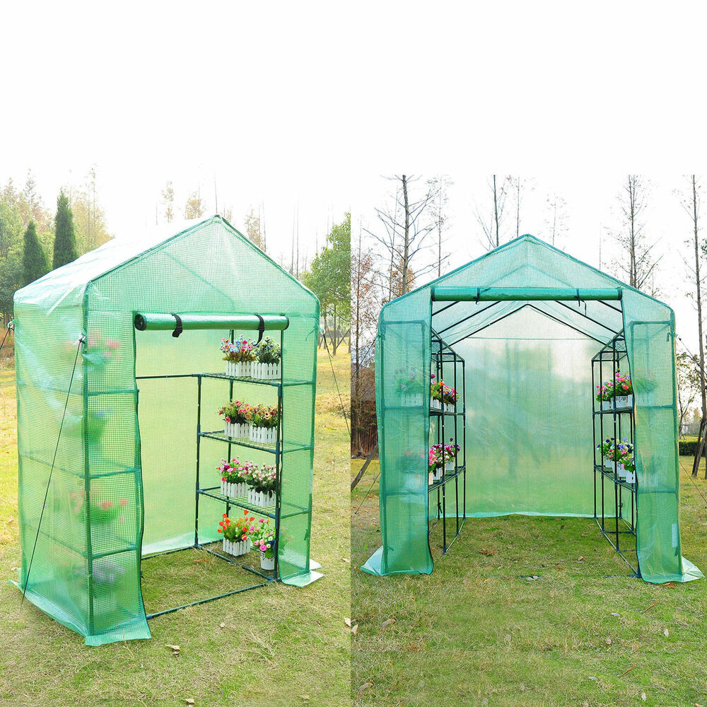 Portable Greenhouse Walk In Green House Outdoor Year