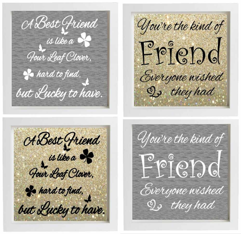 Friendship Picture Frames With Quotes: Vinyl Sticker DIY Box Frame Fits 20x20cm BEST FRIEND Quote