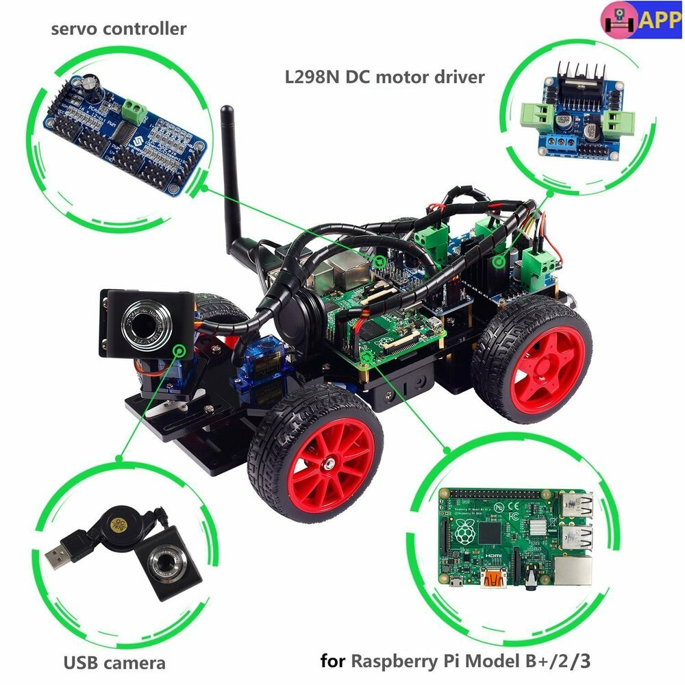 SunFounder Smart Video Car Kit For Raspberry Pi With
