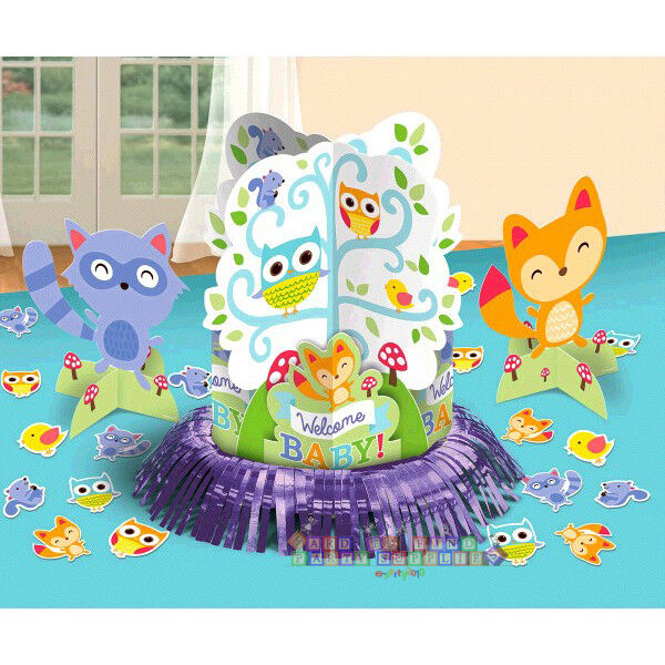 Baby shower woodland welcome table decorating kit 23pc for Baby shower decoration kit