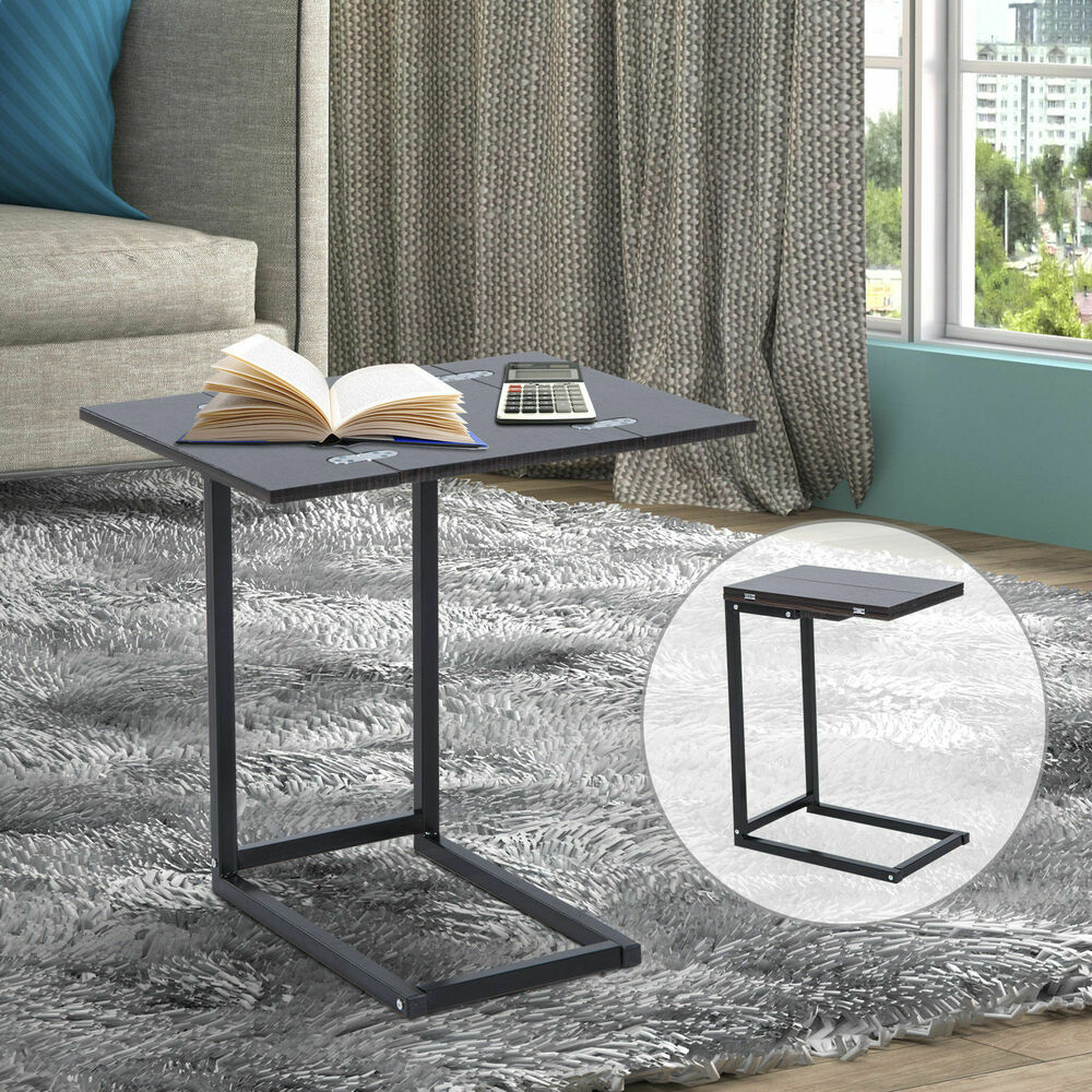 Expandable Side End Tray Table Folding Top Laptop Coffee