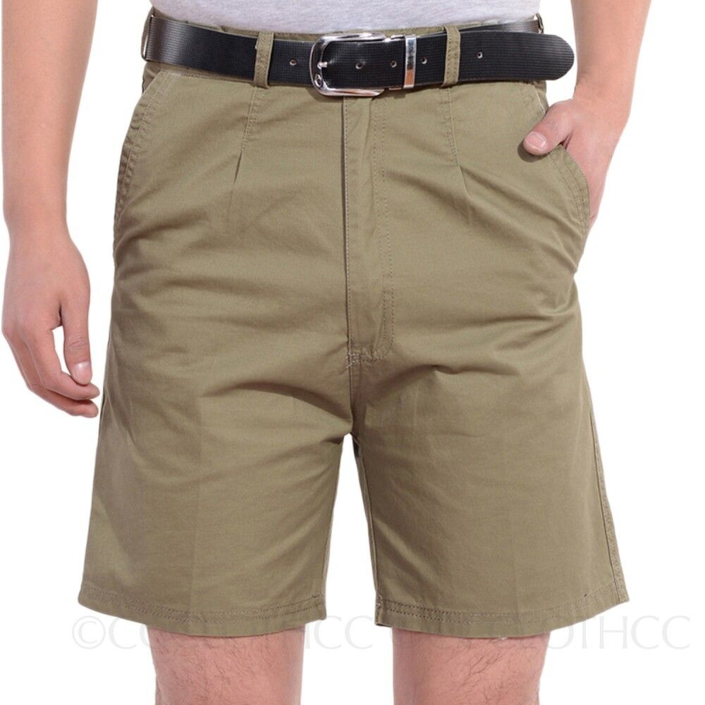 mens summer chinos short trousers 100 cotton office