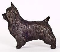 "SILKY TERRIER: COLD-CAST BRONZE FIGURINE 3.75"" LONG #63-136"