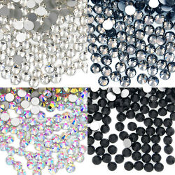 Kyпить 1440 pcs(10 Gross) Top Quality Glass Crystal No-HotFix Flatback Rhinestone Nail на еВаy.соm