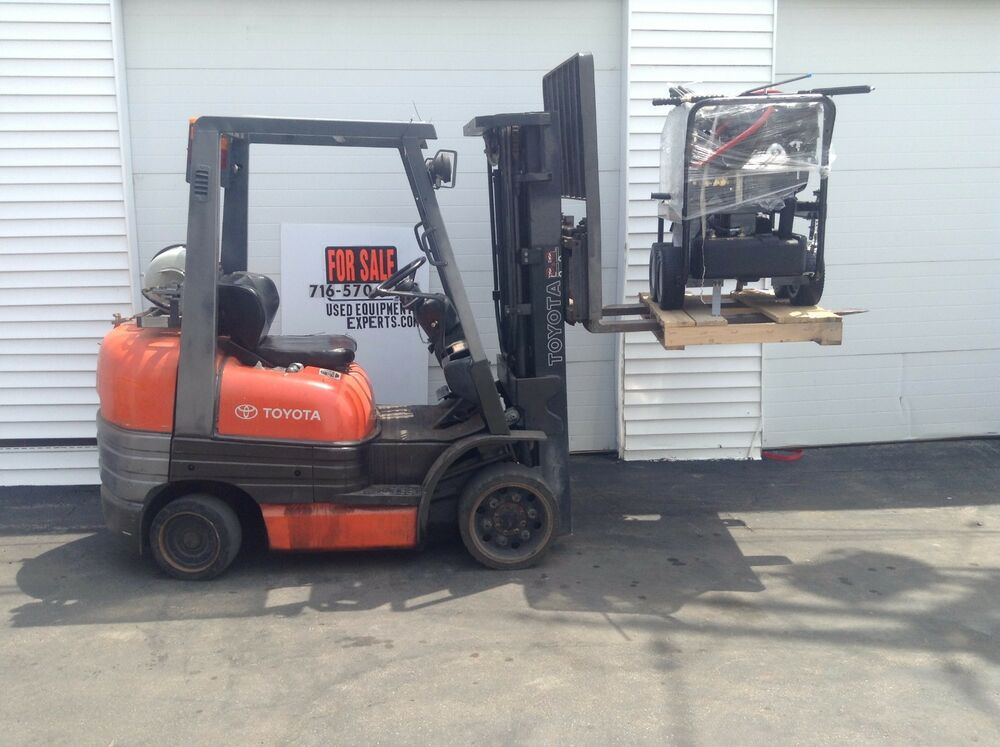 2003 Toyota Forklift Truck Triple Stage Propane Lift Pallet Stacker Reach Used Ebay