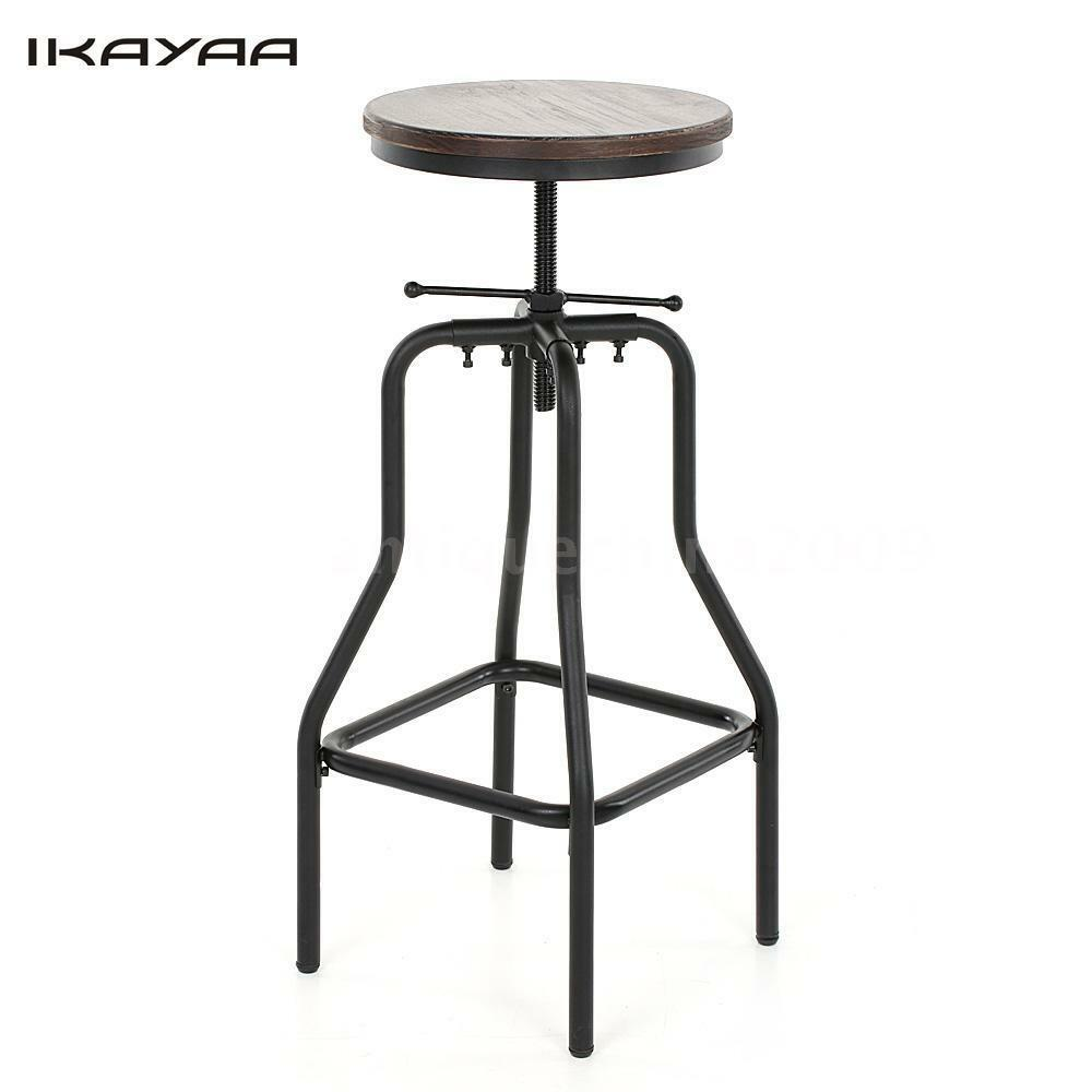 Swivel Vintage Bar Stool Industrial Metal Design Wood Top  : s l1000 from www.ebay.com size 1000 x 1000 jpeg 37kB