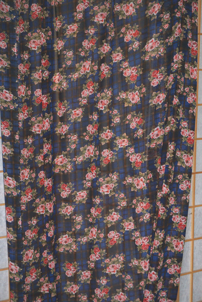 Plaid floral chiffon fabric small roses apparel fall for Apparel fabric