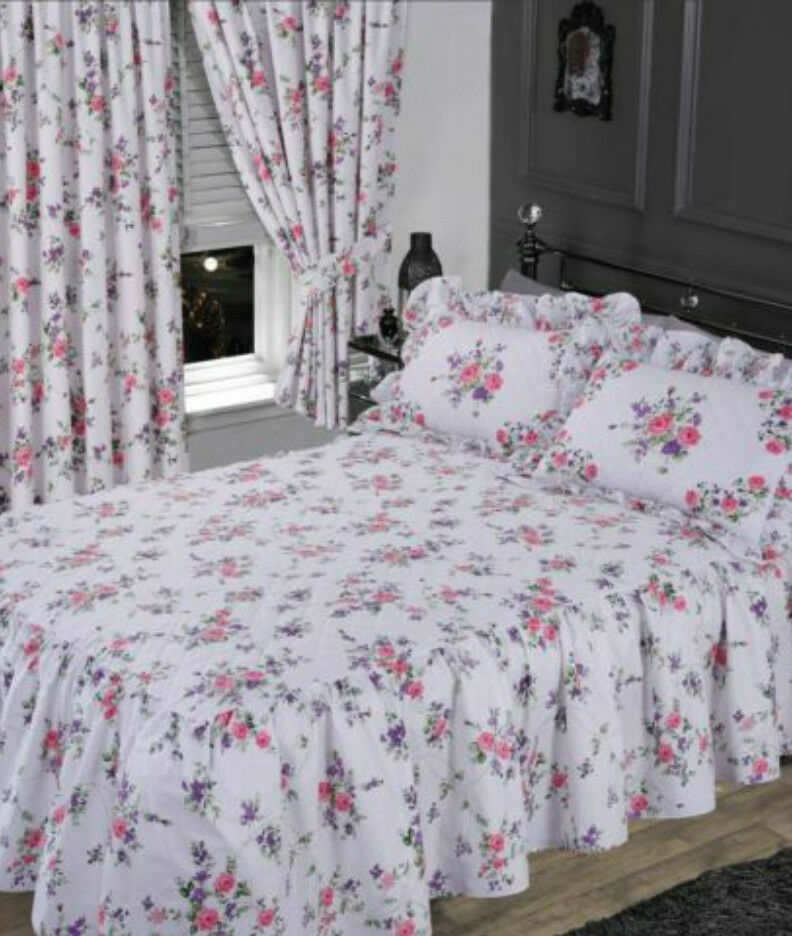 White Pink Amp Lilac Floral Rose Chic Elizabeth Frilly