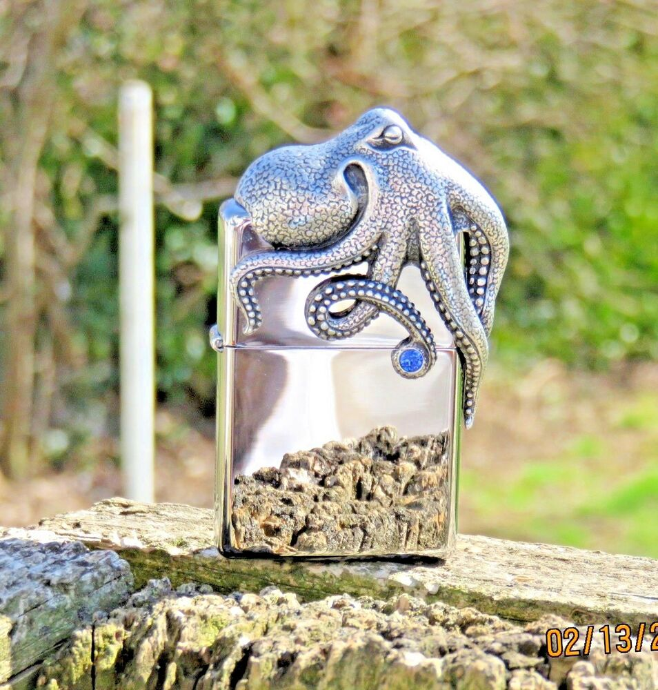 ZIPPO LIMITED EDITION#XXXX/2500 OCTOPUS 3D LIGHTER IN A ...