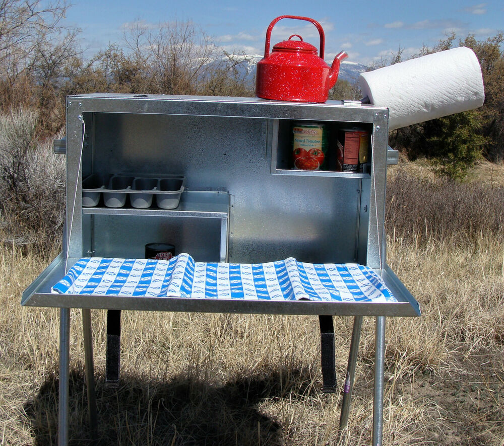 Large Camp Kitchen Food Box Riley Stoves Ebay