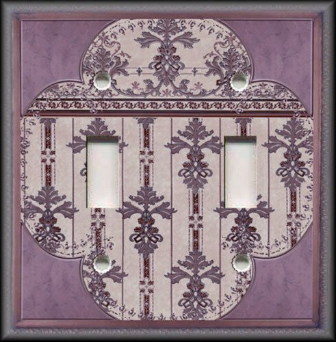 Light switch plate cover vintage clover purple for Victorian decor store