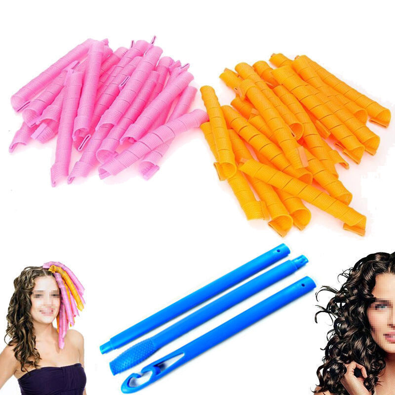hair styling rollers 40 pcs 55cm 22 quot curl diy hair curlers tool spiral circle 5886