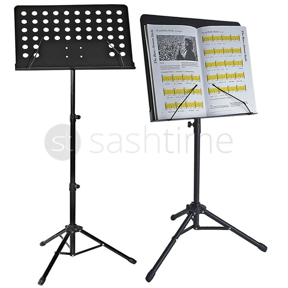 music sheet stand heavy duty foldable orchestral holder adjustable tripod base ebay. Black Bedroom Furniture Sets. Home Design Ideas