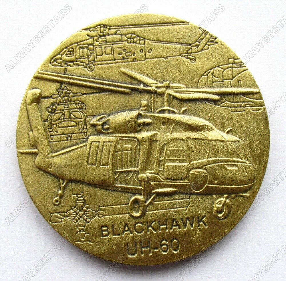 Us Army Uh 60 Black Hawk Helicopter Commemorative Coin