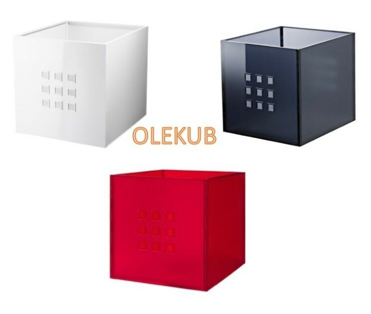 ikea lekman storage organizer box fit to kallax expedit shelf ebay. Black Bedroom Furniture Sets. Home Design Ideas