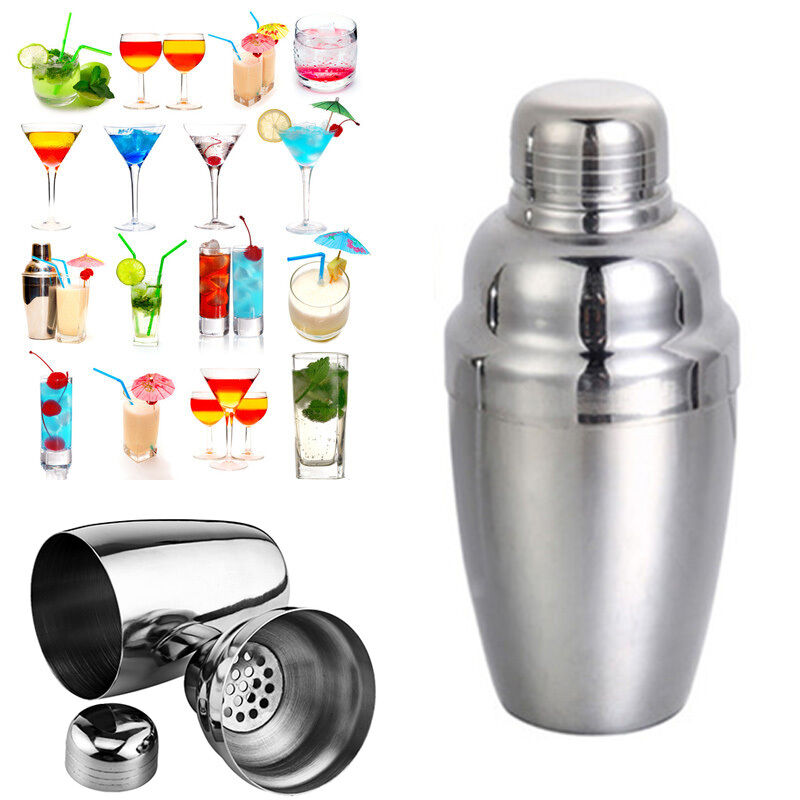 250ml stainless steel wine shaker cocktail martini mixer for bar party trendy ebay. Black Bedroom Furniture Sets. Home Design Ideas
