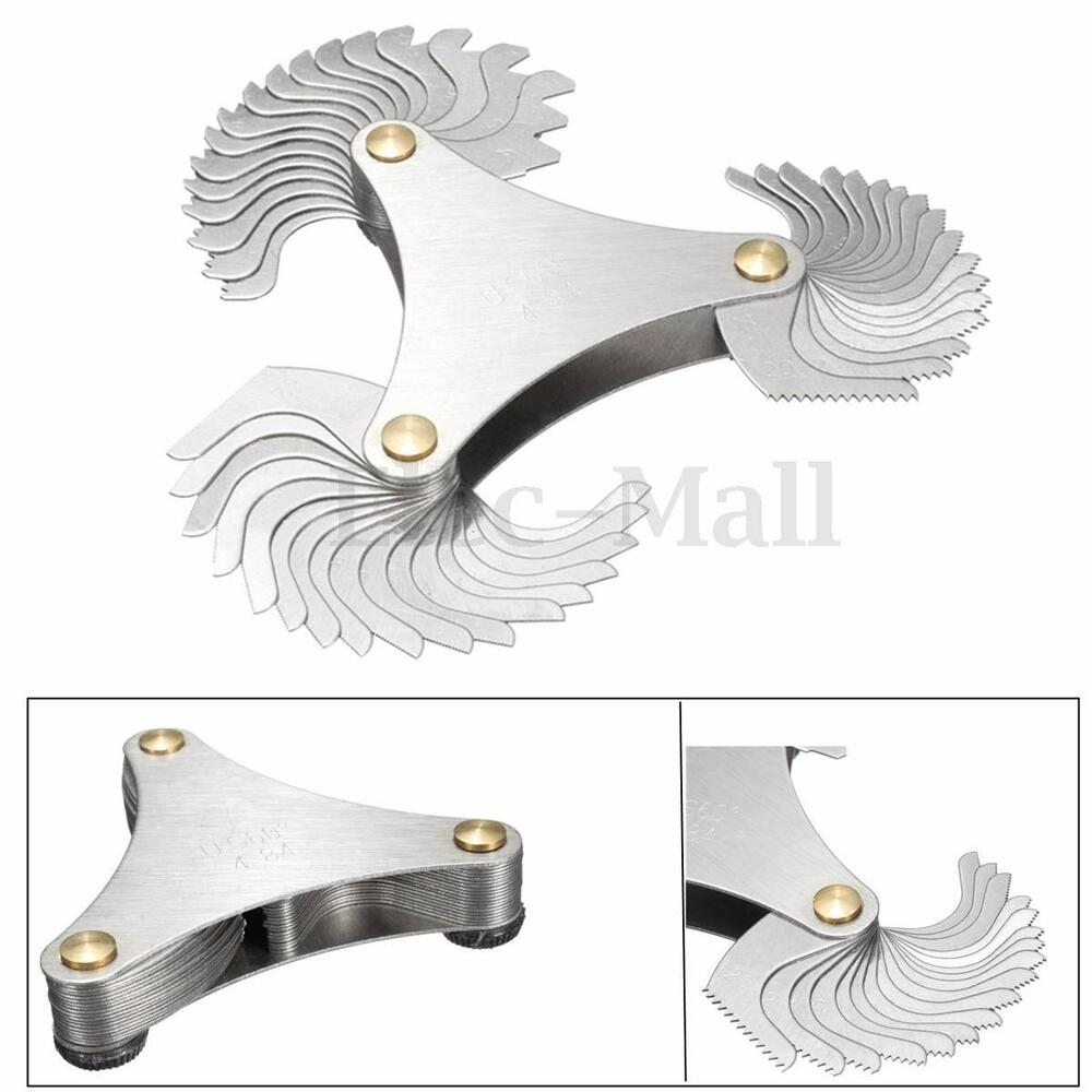 Thread Measuring Tool : Hot xblades metric ° thread gauge gage screw pitch unc