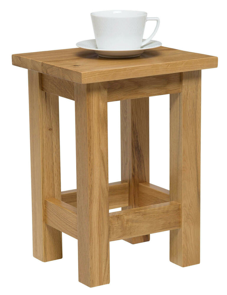 Small Oak Side Table Solid Wood Slim Occasional Coffee Lamp End Console Stand Ebay