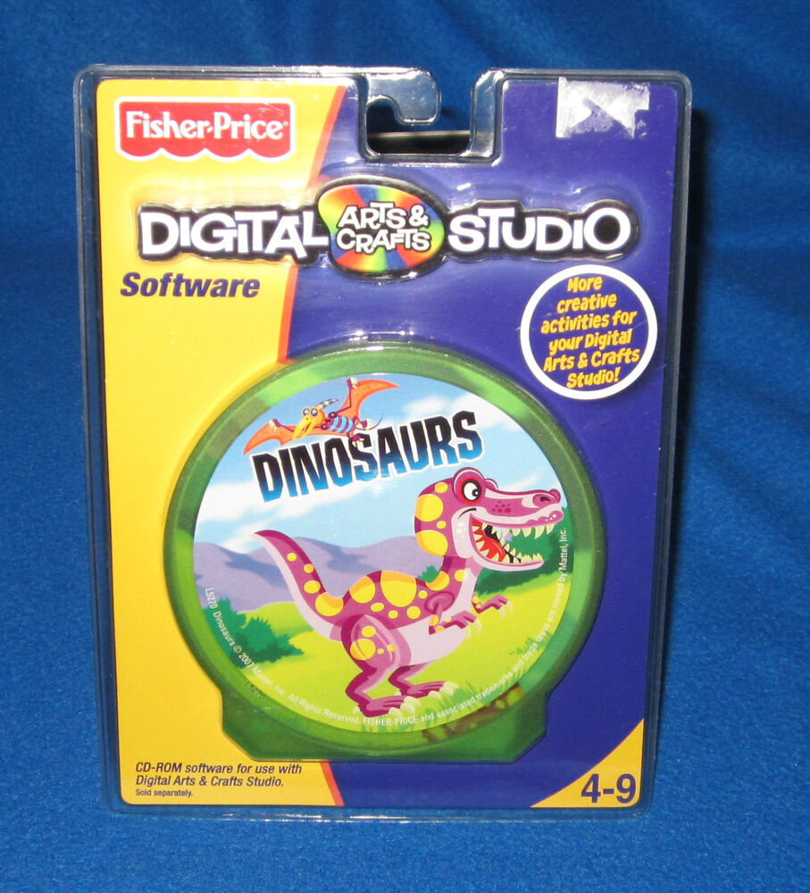 Fisher price digital arts crafts dinosaurs software new for Fisher price digital arts crafts studio