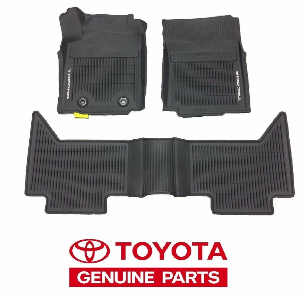 2016 2017 Tacoma Floor Mat Liners Rubber Access Cab Auto