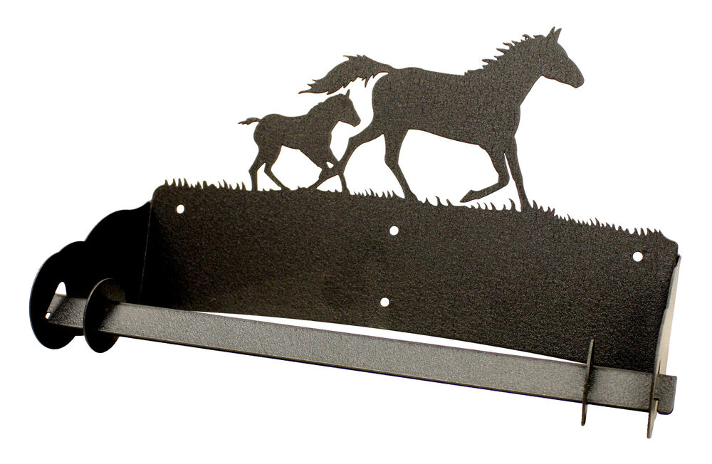 Mare Amp Foal Horse Paper Towel Holder Ebay