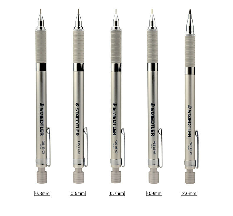 staedtler 925 25 graphite drafting mechanical pencil set 0 3 0 5 0 7 0 9 ebay. Black Bedroom Furniture Sets. Home Design Ideas