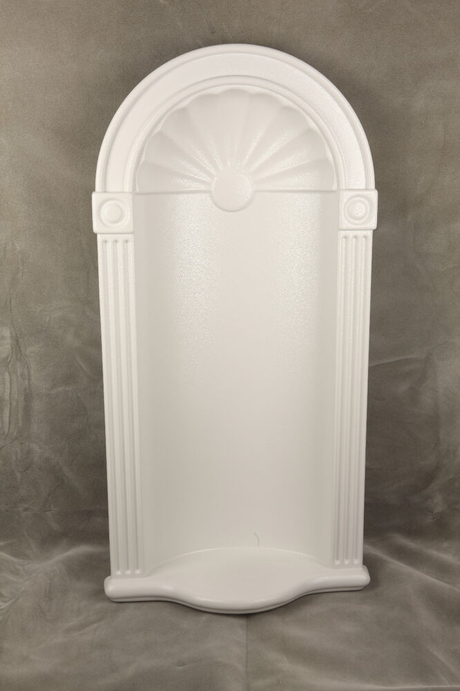 henta white 42 x20 cresent wall niche decor recessed in wall diy paintable abs ebay. Black Bedroom Furniture Sets. Home Design Ideas