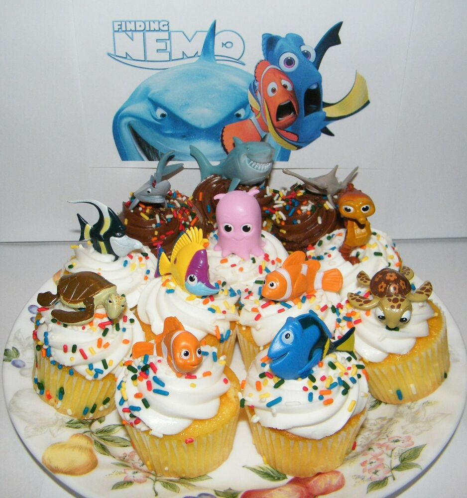 Disney Finding Nemo Cake Toppers Set Of 12 Fun Figures