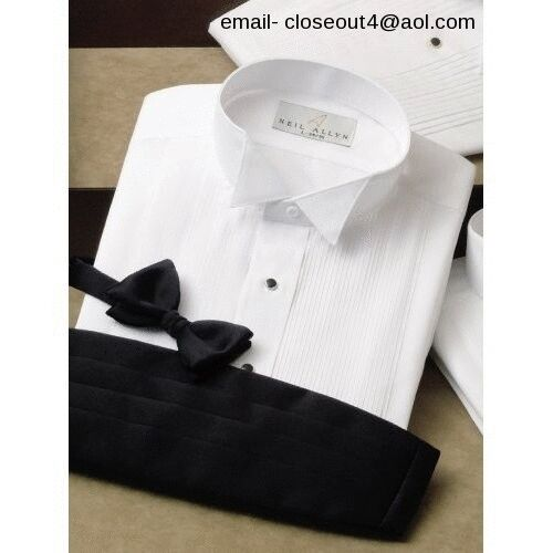 All sizes new wing comfo collar cotton blend tuxedo for Tuxedo shirt no studs