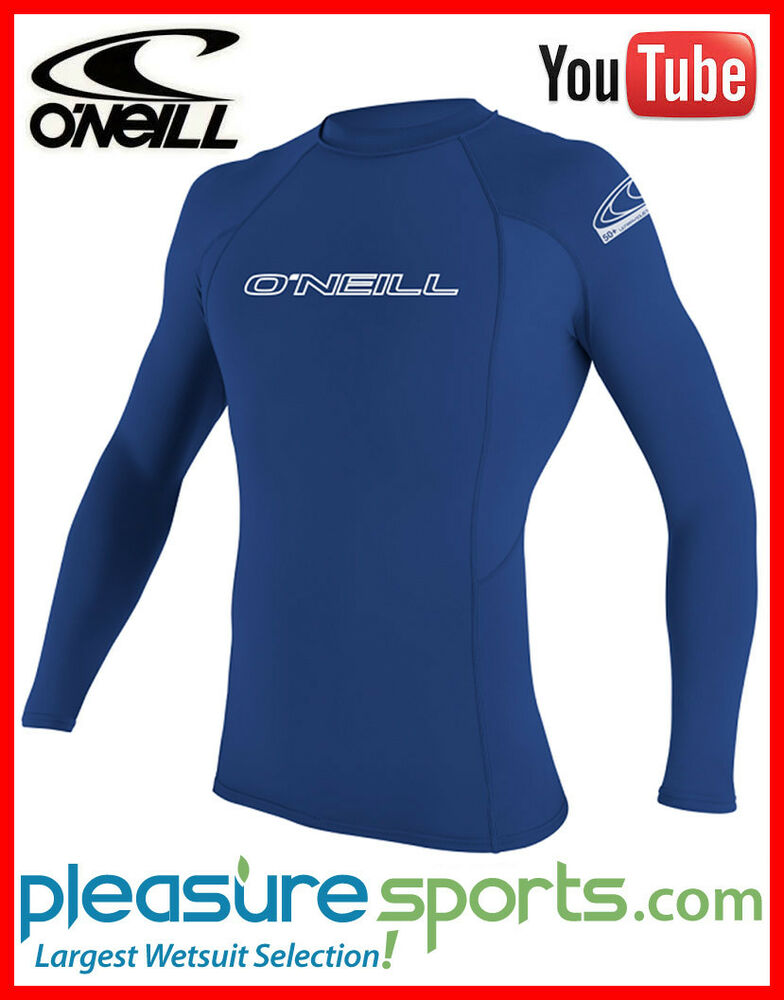 O 39 neill long sleeve rashguard 50 uv protection sun for Uv protection t shirt