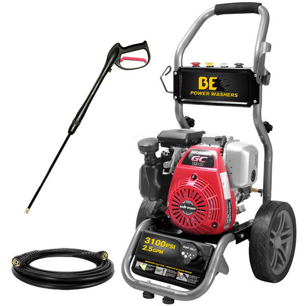 Be 3100 psi gas cold water pressure washer w honda for Power washer with honda motor