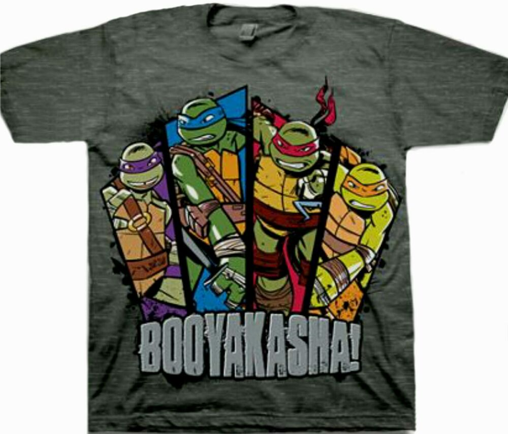a1bc087a1 Details about Teenage Mutant Ninja Turtles t-shirt Size 6-7 S 10-12 L New  Tee BOOYAKASHA!