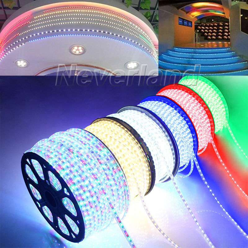 220v 1 100m 5050 smd led strip lichterschlauch lichtschlauch xmas lichterkette ebay. Black Bedroom Furniture Sets. Home Design Ideas