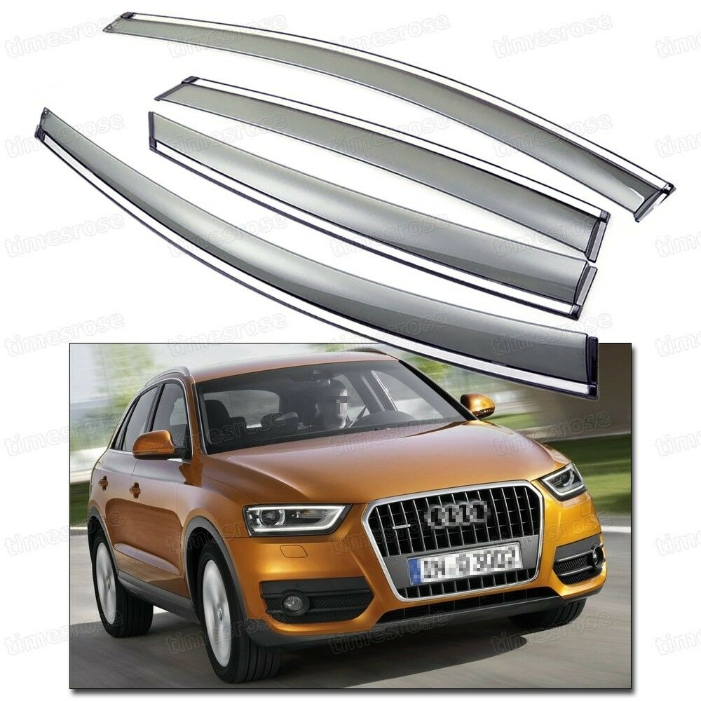 4pcs car window visor vent shade rain sun guard for 2012 for Sun motor cars audi